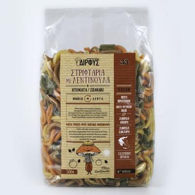 Στριφτάρια με λαχανικά & λεντινούλα 500g
